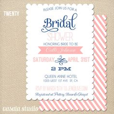 Cute Bridal Shower invite . . . love the colors too!
