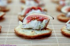 Fig Crostini with Chevre Simple, seasonal delicious!