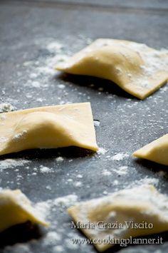 ravioli with potatoes, parmesan and rosemary with porcini mushrooms    ravioli alle patate, parmigiano e rosmarino con funghi porcini