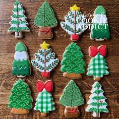 Christmas Sugar Cookies Christmas Sugar Cookies, Decorated Cookies, Cookie Decorating, Biscuits, Christmas Tree, Party, Desserts, Food, Firs