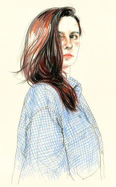 Self portrait by Agata Marszałek, via Behance