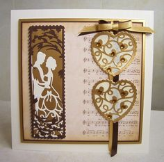Another day, another card: The First Dance Tonic Cards, Studio Cards, Wedding Cards Handmade, Matching Cards, Wedding Anniversary Cards, Die Cut Cards, Heart Cards, Diy Cards, Homemade Cards