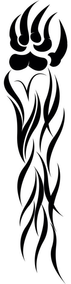 Tribal Bear Arm, that I made a few weeks back. Tribal Heart Tattoos, Bear Tattoos, Tribal Bear, Animal Silhouette, Bear Paws, Woodburning, Tattoo Art, Maya, Henna