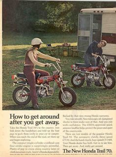 Honda Trail 70 dirt bike we had as kids - Fun!