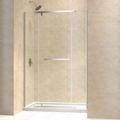 DreamLine Vitreo-X 46 in. to 46-3/4 in. x 72 in. Frameless Pivot Shower Door in Chrome-SHDR-2146722-01 at The Home Depot