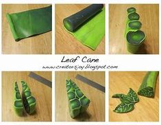 Polymer Clay Leaf Cane Tutorial images