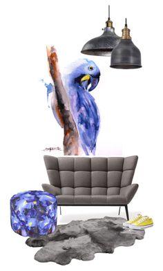 """blue parrot"" by katrisha-art ❤ liked on Polyvore featuring interior, interiors, interior design, home, home decor, interior decorating, NuCasa, UGG Australia and Converse"