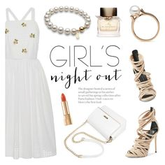 """""""Girls' Night Out: Summer Edition"""" by pearlparadise ❤ liked on Polyvore featuring Blugirl, Giuseppe Zanotti, Burberry, Dolce&Gabbana, girlsnightout, contestentry, pearljewelry and pearlparadise"""