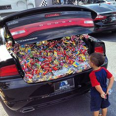 When all else fails, just stuff your trunk with candy, and you won't go wrong. Source: Instagram user autolinepreowned