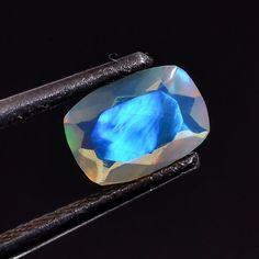 Natural Rare Multi Fash Welo Ethiopian Opal Cut rectangle Calibrated Gemstone 99 #Unbranded