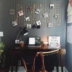 Dorm Room Inspiration - Whether, if you're living in a dorm you've probably come across the challenge of decorating the tiny, character-free space. College Dorm Rooms, College Girls, College Desks, Dorm Room Desk, New Room, House Rooms, Living Rooms, Room Inspiration, Home Office
