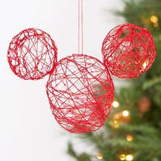Diy hanging string balls might do it pinterest easy party mickey string ornament add a little disney magic to your tree by crafting this sparkling mickey ornament solutioingenieria Images