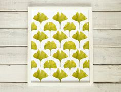 Ginkgo Art Print Watercolor Ginkgo Print by saidinlayers on Etsy