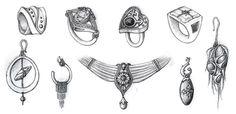 Jewelry quick idea sketches    Haejong Gwon  http://www.mechapirate.com  tonygwon@gmail.com