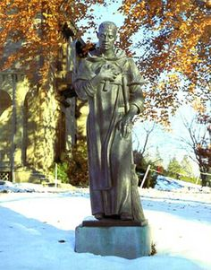 St. Martin sculpted in 1930 by Dominican Thomas McGlynn at Providence College, Rhode Island