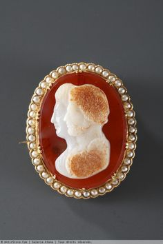 Gold agate Cameo with, Napoléon III era
