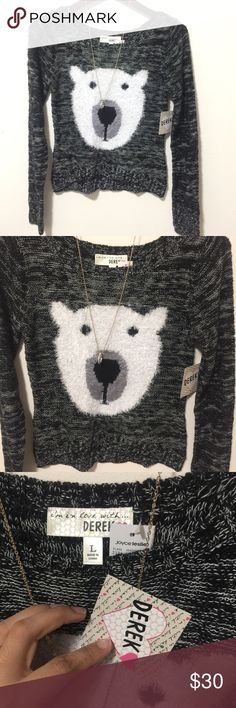 ‼️NWT DEREK FUZZY POLAR BEAR TUNIC TOP #C NWT SUPER ADORABLE MIX GRAY BLACK AND FUZZY BIG POLAR BEAR FACE ITS LIKE A LOOSE CROP TOP  SIZE LARGE LEN 22 ACROSS CHEST 16  MANNEQUIN IS SIZE MED. PLEASE ASK ANY QUESTIONS ❤️❤️NEW INVENTORY❤️❤️  ✅BUNDLE AND SAVE ON SHIPPING 20% OFF ON ANY BUNDLES MY PRICES ARE GREAT AND THERE NWT OR NWOT UNLESS STATED  THERE NAME BRAND SELLING THEM FOR CHEAP✅  ***DONT FORGET TO FOLLOW I DELETE AND RELIST***  # GREAT DEALS Joyce Leslie Tops Crop Tops
