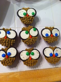 Cake Dulce   Owl Cupcakes