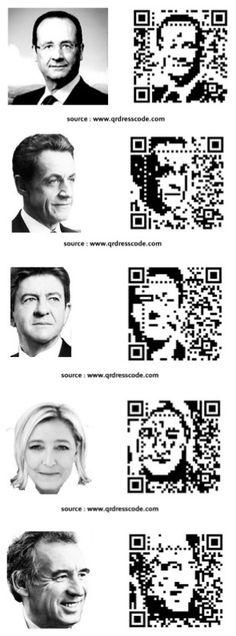 1er tour : Pour qui allez-vous Flasher ? #QRcode designed by QRdressCode