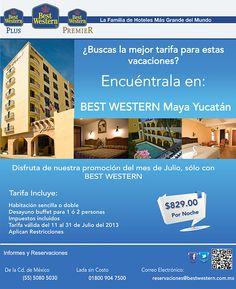 Best Western Maya Yucatán- tarifa para el mes de julio de $829.00 por noche