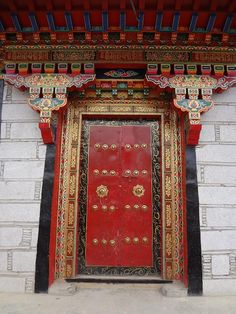 OLD CHINESE DOORS | Old Gyantse city, Tibet China by joaoleitao, via Flickr | doors