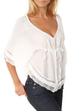 Mystree Cara Top In Off White