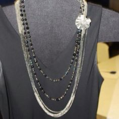 Manhattan and Arabian Nights necklaces with Camille pin ~ #PremierDesigns jewelry #weheartpremier