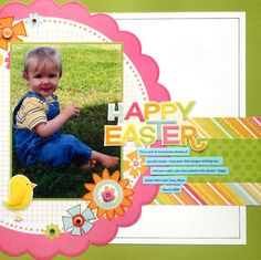 Easter Scrapbook Layouts | Easter Scrapbook Challenge