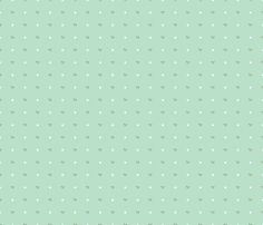 Bows and Dots in Mint fabric by tessie_fay on Spoonflower - custom fabric