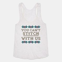 You Can't Stitch with Us #meangirls #crossstich #youcantsitwithus #giftideas
