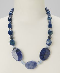 Take a look at this Blue Agate Necklace on zulily today!