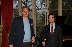 Hendrik Penndrof & Aymeric de Rougé at the Backes & Strauss and Waskoll cocktail party on April, 11th 2013 - British Ambassador Residence    For more information, visit www.backesandstrauss.com