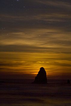 Moonlight at Cannon Beach, stars, sunset, haze Heart In Nature, Sky Full Of Stars, Cannon Beach, Night Skies, Dark Side, Mother Nature, Moonlight, Sunrise, Statue