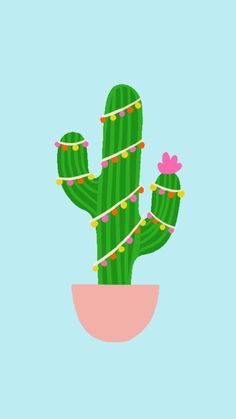 Christmas Ad, Merry Christmas Everyone, Outdoor Christmas, Cute Wallpapers, Wallpaper Backgrounds, Iphone Wallpaper, Paper Cactus, Cactus Illustration, Christmas Tree Decorations