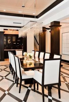Black & white dinning room decor ideas