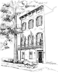 Custom House Portrait Pen and Ink Drawing of Your Home or Garden or inches is part of garden Drawing Ink - flyyoungstudio etsy comView more of my work including Pet Portraits, Murals, and Colorful Illustrations at the main hubwww FlyYoungStudio com Ink Pen Drawings, Love Drawings, Kawaii Drawings, Drawing Skills, Drawing Ideas, Drawing Tips, Garden Drawing, Tinta China, Custom Pens