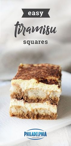 Easy Tiramisu Squares – What makes this luscious tiramisu recipe so easy? Try six ingredients and 15 minutes of prep time! Discover your new favorite dessert dish when you check out this sweet creation.
