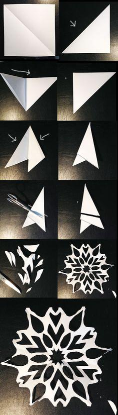 schneeflocken-ballerina-aus-papier - Weihnachtszeit - DesignBlog