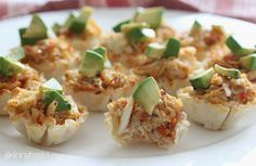 Crab and avocado phyllo bites quick and easy app!