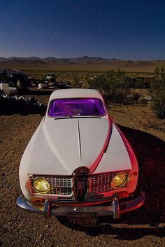 A Saab 96 in Darwin, an interesting little town in the Mojave desert with a population of around forty, where abandoned vehicles seem to out number people.