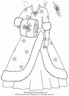 "Clara's 1954 ""White Christmas"" Dress | Heritage Paper Dolls"