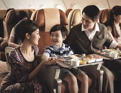 Singapore Airlines, a great way to travel with children.