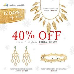 40% off these 3 gorgeous pieces, today only! Shop www.chloeandisabel.com/boutique/sarahbordenet