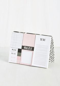 Girl, you know you can stay positive through a busy schedule - but, if you need a 'note' of confidence, just grab one of these pink-accented sticky notes! With a black-and-white dotted cover and a rose gold reminder of your awesome aplomb, this booklet offers a place to jot down the day's successes as they're achieved.