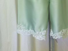 Light Sage Green Matte Satin Bloomers / by MissPussinBoots on Etsy