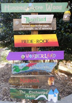 Customized Directional Sign Wooden Mile Marker by TheTrashySide, $225.00