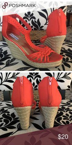 Steve Madden |  Coral Wedge Sandal Super Cute, comfortable, great color for summer! Steve Madden Shoes Espadrilles