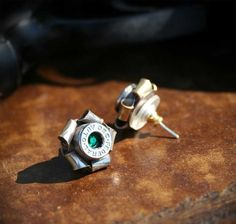 Bullet Rosette Stud Earrings (Brass or Nickel) bullet casing earrings and other jewelry, wonder if I could make these?