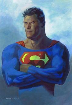 KEVIN NOWLAN SUPERMAN watercolor original art