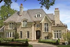 New Construction With Beautiful Appointments in Milton, GA, United States for sale on JamesEdition French Country Exterior, French Country House Plans, Country House Design, French Cottage, French Country Style, French Country Decorating, Country Homes, Rustic Style, Country Estate